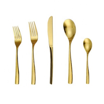 Modern gold silverware gold cutlery knife wedding favor
