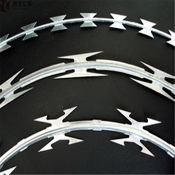 hot dipped galvanized  razor blade barbed wire mesh