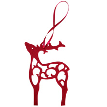 Christmas hollow reindeer shape hanging pendant
