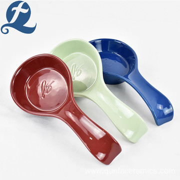 High Quality Wholesale Price Colorful Stoneware Ceramic Spoon Set