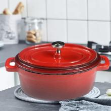 Mini Dutch Ovens Enameled Cast Iron Covered Casserole Anti - Scalding Oval Pot Kitchen Cooking Pot Cookware