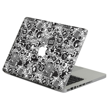 Black cartoon stick figure Laptop Decal Sticker Skin For MacBook Air Pro Retina 11
