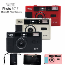Vibe Vintage Retro 501F 35mm Reusable Non-Disposable Film Camera Black / Red / Champagne Silver / Pink
