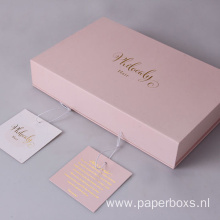 High-End Packaging Paper Hair Extension Box With Tag