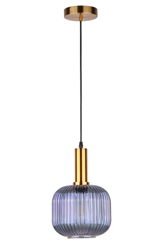 Blue Pendant Glass Lamp
