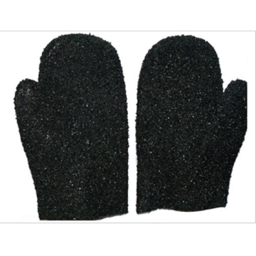 Black Single Dipped PVC Mitten Glove