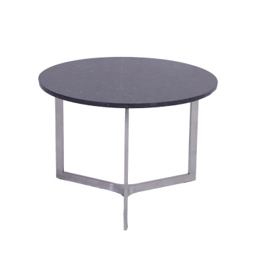 Modern Stainless Steel Round Marble Coffee Table