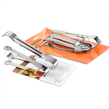 set 3 Stainless steel tongs