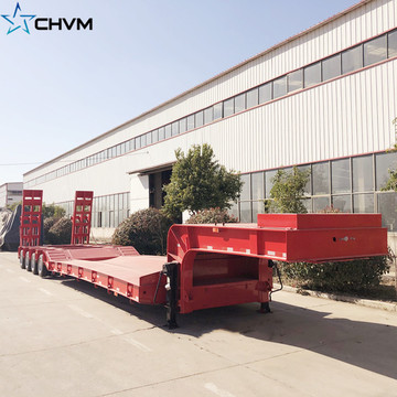 4-Line 8-Axis Lowboy Low Bed Semi Trailer