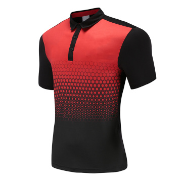 Mens Dry Fit Soccer Wear Polo Shirt Red
