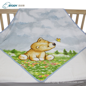 Custom Logol Cute Printed Big Terry kid Blanket