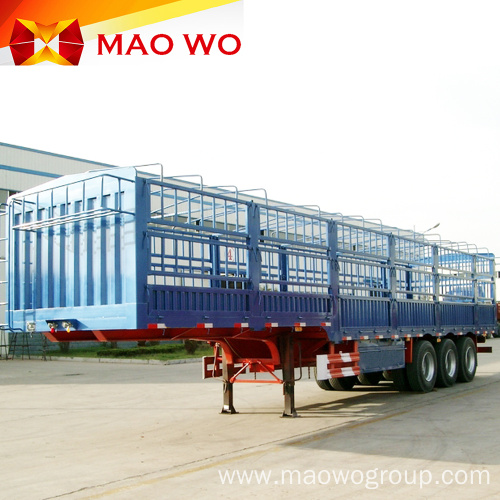 New Tri-axle 60tons Fence Cargo Trailer for Sale