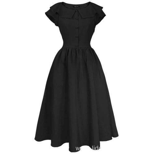 Elegant Short Sleeves Rockabilly Party Swing Dress