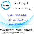Shantou Port Sea Freight Shipping To Chicago