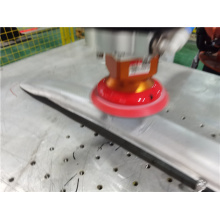 Luggage rack sanding polishing active contact flange