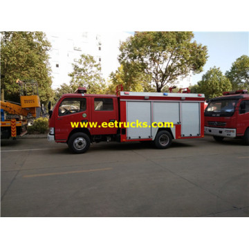 4m3 4x2 Double Cabin Fire Trucks