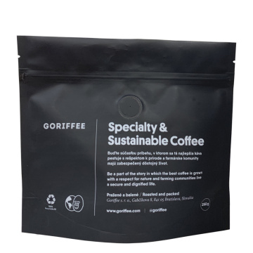 Sustainable Recyclable Zipper Organic Coffee Bag with Valve