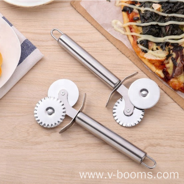 Stainless Steel Double Wheel Pizza Cutter