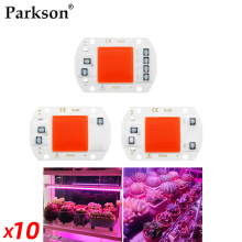 10pcs/lot LED Grow Light Full Spectrum COB Chip No Need Driver 220V 110V 50W 30W 20W 10W Growth Flower Seedling Grow Plant Lamp
