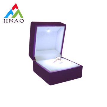 Neues design luxus led schmuck ring box