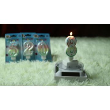 happy birthday cake number shape candles