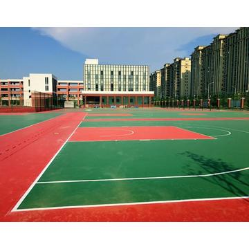 Anti UV Silicon PU Elastic layer QT Courts Sports Surface Flooring Athletic Running Track