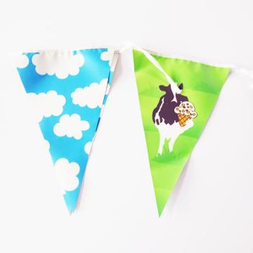 Custom multicolor  plastic bunting pennant banner