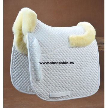Classic horse square sheepskin saddle pad