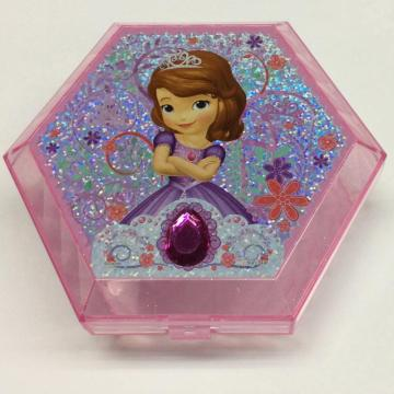 Plastic hexagonal gift box with mirror