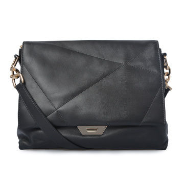 Women Leather Black Handbags Trend Messenger bags 2019