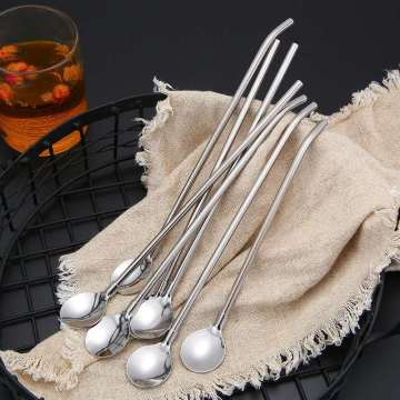 18/8 Glisten Stainless Steel Straw Spoon