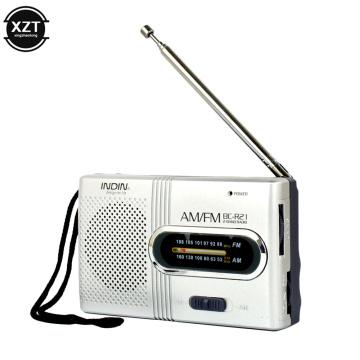 Mini Portable Radio Handheld Dual Band AM FM Music Player Speaker with Telescopic Antenna Outdoor Radio Stereo