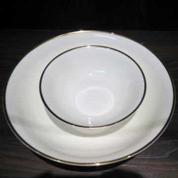 Gold And Silver Rim Porcelain Dinnerset
