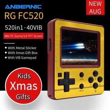 NEW ANBERNIC RG FC520 Retro Game Console 8 Bit FC VIB Game Mini Video Console Portable Handheld Game Player Boy Kids Xmas Gift