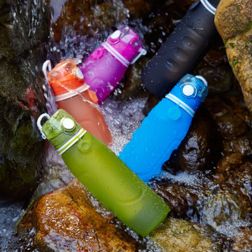 1L/ 750ML powerfull filter silicone water bottle