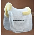 Horse sheepskin numnah dressage saddle pad