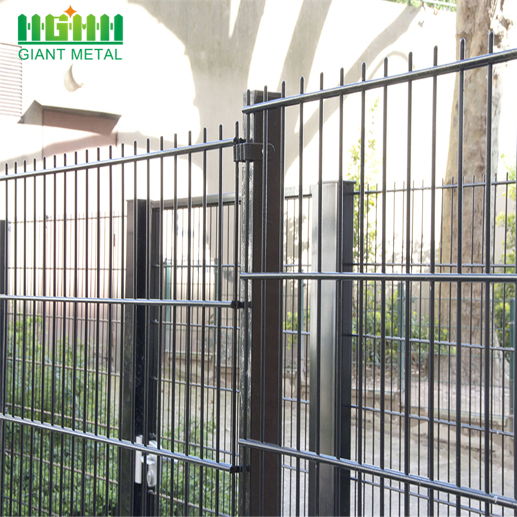 Best Selling Metal Garden Fence Double Horizontal Fence