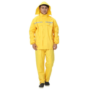 Waterproof raincoat suit PVC man and woman