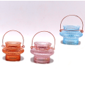 crystal pillar candle holders glass