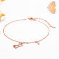 New design cat charm anklet stainless steel