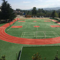 Football Field green synthetic turf