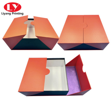 custom color shoe cardboad packaging box double door