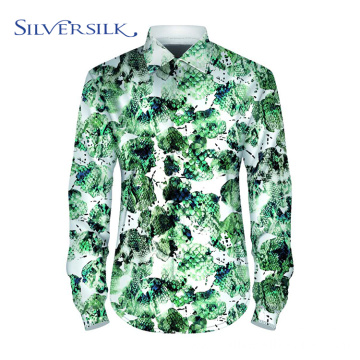 Long Sleeve Party Wear Animal Floral Printed Shirts