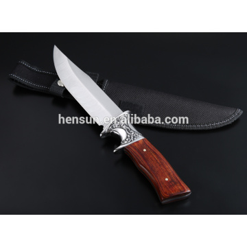 Ebony Wood Brown Handle 420HC Blade Hunting Knife