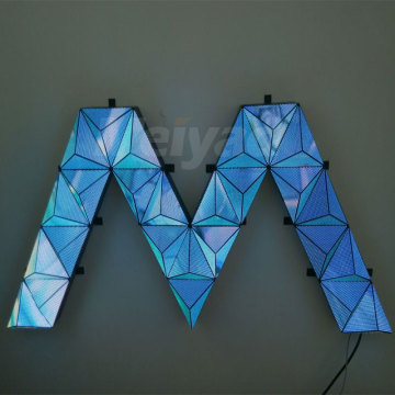 Bom módulo de display LED triangular criativo