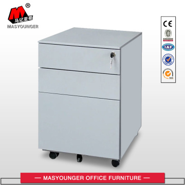 Mobile steel office file storage pedestal cabinet