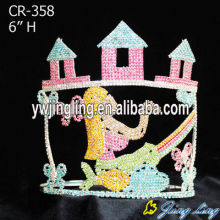 Beauty Colored Castle Mermaid Princess Pageant Crown