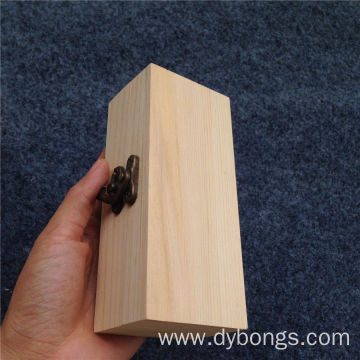 Engraving rustic wooden wine Packed plain Wine Box wholesale