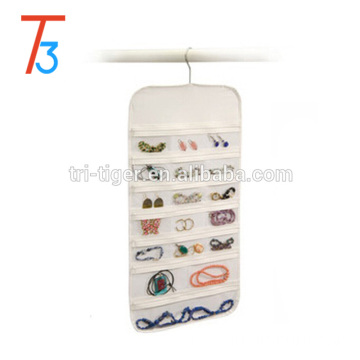 37 pockets Non-woven fabric wall mount hanging jewelry organizer