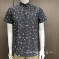 Men's TC print short sleeve shirt